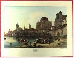 Lithographie Druck  -  Cöln Um 1840  -  Ca. 37,5 X 28 Cm - Lithographies