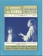TEATRO VILLARET - A SEMANA De LISBOA N.º 137 - Guia De Espectáculos - Guide To All Shows - Des Spectacles - Ontwikkeling