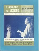 TEATRO VILLARET - A SEMANA De LISBOA N.º 137 - Guia De Espectáculos - Guide To All Shows - Des Spectacles - Programmes
