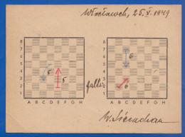 Polen; Schach; Chess; Échecs; 1949 Zwischen Amsterdam Und Wloclawek - Schach