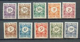 REU 626 - YT Taxe 26 à 35 * - Réunion (1852-1975)