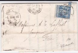 """1886 - TYPE SAGE PERFORE """"FA"""" Sur LETTRE COMMERCIALE De FELIX AUNAC à AGEN (LOT ET GARONNE) - 1877-1920: Semi Modern Period"""