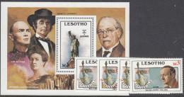 LESOTHO. 1986 STATUE OF LIBERTY 4+MINISHEET MNH - Lesotho (1966-...)