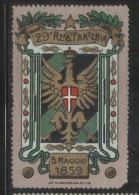 ITALY 1 29 REGIMENT INFANTERIA MILITARY ARMY ADVERTISING NG POSTER STAMP CINDERELLA REKLAMENMARKEN - 1900-44 Vittorio Emanuele III