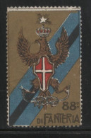 ITALY 88 REGIMENT DI FANTERIA MILITARY ARMY ADVERTISING NG POSTER STAMP CINDERELLA REKLAMENMARKEN - 1900-44 Vittorio Emanuele III