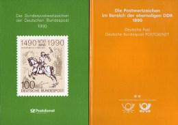 Einheit 1990 Jahrbuch BRD+DDR Mit Schwarzdruck 3299 SD Plus SD 13 ** 390€ Deutschland # 1444-87 Year-set Book Of Germany - Duitsland