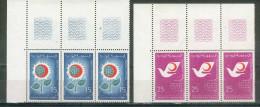 Tunisie 1968 - 2 Bandes De 3 Avec CdF  Croissant Rouge - Y&T 651/652 ** Neufs Luxe 1er Choix (TB). - Tunisie (1956-...)