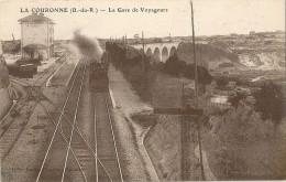 13-LA COURONNE-LA GARE DES VOYAGEURS - TRAIN - SUPERBE - France