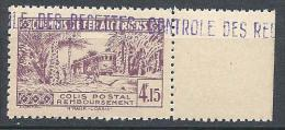 ALGERIE COLIS POST  YVERT  N ° 90 / MAURY N° 105  VARIETEE RECTO-VERSO PARTIEL NEUF**  TB - Algérie (1924-1962)