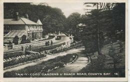 CLWYD - COLWYN BAY - TAN-Y-COED GARDENS AND BEACH ROAD RP Clw46 - Denbighshire