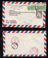 Peru 1951 Registered Airmail Cover To SWEDEN UPU Overprint Stamps - Peru