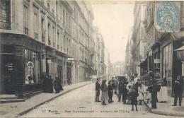 -37--PARIS--RUE DAUTANCOURT--AVENUE DE CLICHY--TRES ANIMEE--AFFR RECTO/ECRITE VERSO-- - Frankreich