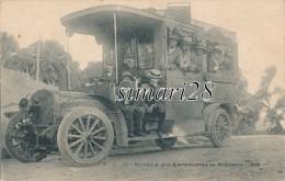 SERVICE PUBLIC D´AUTOMOBILES EN KROUMIRI (1908) - N° 13 - AUTOBUS TRES GROS PLAN - (BUS ET AUTOCARS) - Tunisie