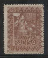 YUGOSLAVIA ZAGREB CROATIA IRONSMITH BLACKSMITH BROWN POSTER STAMP NHM CINDERELLA STAMP - Non Classificati