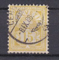1882  N° 63A  OBLITERE     CATALOGUE ZUMSTEIN - 1882-1906 Armoiries, Helvetia Debout & UPU