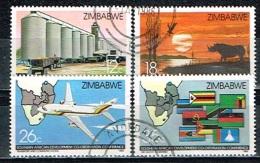 ZIMBABWE /Oblitérés/Used/1986 - Conférence Pour La Coordination Du Développement En Afrique Du Sud - Zimbabwe (1980-...)