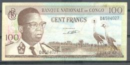 Congo Kongo  100 Fr 1962  Fine Kasavubu - Democratische Republiek Congo & Zaire