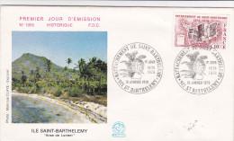 Saint-Barthélémy  - 1978 - FDC - 1er Jour - Brieven En Documenten
