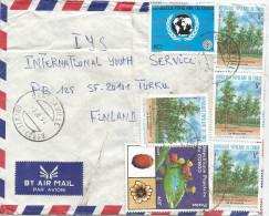 Congo 1990 Brazzaville AIDS SIDA 180f Eucalyptus Trees Desertification Cactus Cover - Congo - Brazzaville
