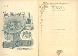 7888 - BRADERIE TOUT A 1 EURO -  QUINTIGNY JURA - MENU NEUF VINS MOUSEUX - Vieux Papiers