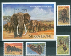 Sierra Leone 1983 Chimpanzees, Elephants MNH** - Lot. A300 - Sierra Leone (1961-...)