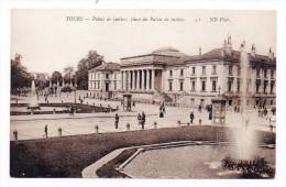 CP, 37, TOURS, Palais De Justice ; Place Du Palais De Justice, Vierge - Tours