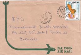 Senegal 1990 Dakar Yoff AIDS SIDA Health 145f Cover - Senegal (1960-...)