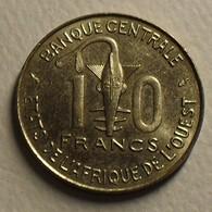 1976  - Afrique De L'Ouest - West African States - 10 FRANCS, BCEAO, KM 1a - Monnaies