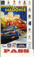 PASS RALLY MADONIE 2003  NUOVO - Corse Di Auto