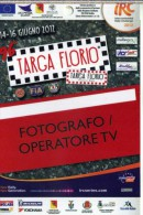 PASS FOTOGRAFO RALLY TARGA FLORIO IRC SERIES 2012   NUOVO - Corse Di Auto