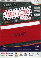 PASS RADIO RALLY TARGA FLORIO IRC SERIES 2012   NUOVO - Corse Di Auto
