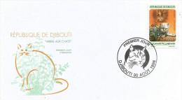 Djibouti 1998 Cat Valeria Plant FDC Cover - Djibouti (1977-...)