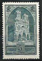 "YT 259 Type I "" Cathédrale De Reims "" 1929-31 Neuf*"