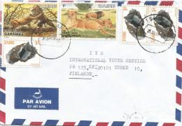 Zaire Congo DRC 1987 Tshikapa Code Letter B Lion Cat Cassirite Mineral Cover - Zaire