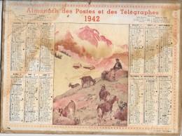 CALENDRIER - ALMANACH DES POSTES ET DES TELEGRAPHES - ANNEE 1942 - Calendriers