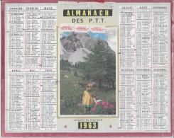 CALENDRIER - ALMANACH DES POSTES ET DES TELEGRAPHES - ANNEE 1963 - Photo D´Annecy - Big : 1961-70