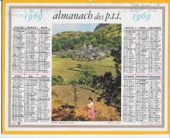 CALENDRIER - ALMANACH DES POSTES ET DES TELEGRAPHES - ANNEE 1969 - Département De L´AUDE - Calendars