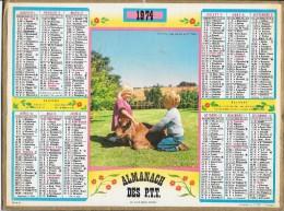 CALENDRIER - ALMANACH DES POSTES ET DES TELEGRAPHES - ANNEE 1974 - Département De SEINE ET MARNE - Calendriers