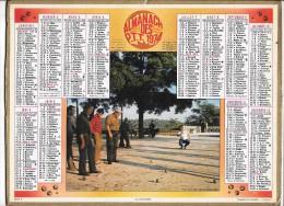 CALENDRIER - ALMANACH DES POSTES ET DES TELEGRAPHES - ANNEE 1974 - Département De SEINE ET MARNE - Big : 1971-80