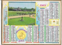 CALENDRIER - ALMANACH DES POSTES ET DES TELEGRAPHES - ANNEE 1969 - Département De SEINE ET MARNE - Big : 1961-70