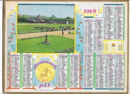 CALENDRIER - ALMANACH DES POSTES ET DES TELEGRAPHES - ANNEE 1969 - Département De SEINE ET MARNE - Calendari