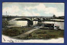 03 VICHY Pont Sur L´Allier ; Péniche - Colorisée - Vichy