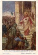 Santino Antico SACRO CUORE DI GESU', ABBI PIETA' DI NOI - ATTO DI CONSACRAZIONE NAZIONALE 1917 - G25 - Religione & Esoterismo