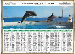 CALENDRIER - ALMANACH DES POSTES ET DES TELEGRAPHES - DAUPHINS - ANNEE 1976 - Département De SEINE ET MARNE - Calendriers