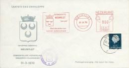 Laatste Dag Enveloppe - Gem. Herindeling Zeeuwsch-Vlaanderen - Nieuwvliet (1970) - Period 1949-1980 (Juliana)