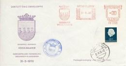 Laatste Dag Enveloppe - Gem. Herindeling Zeeuwsch-Vlaanderen - Vogelwaarde (1970) - Periodo 1949 - 1980 (Giuliana)