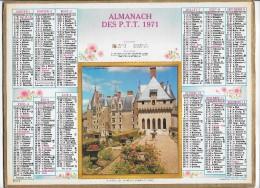 CALENDRIER - ALMANACH DES POSTES ET DES TELEGRAPHES - ANNEE 1971 - Département De SEINE ET MARNE - Calendriers