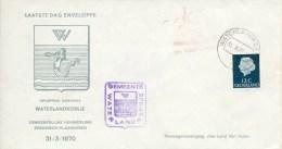 Laatste Dag Enveloppe - Gem. Herindeling Zeeuwsch-Vlaanderen - Waterlandkerkje (1970) - Period 1949-1980 (Juliana)