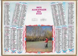 CALENDRIER - ALMANACH DES POSTES ET DES TELEGRAPHES - ANNEE 1971 - Département De SEINE ET MARNE - Calendars