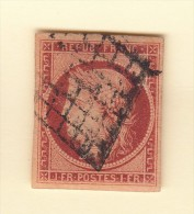 CERES N°6  1 Fr, GRILLE , 4 BELLES MARGES,  REPARE, SUPERBE,   /5261 - 1849-1850 Ceres